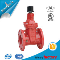 300psi ANSI AWWA FM UL fire protection flanged gate valve
