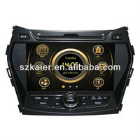 car media dvd player for Hyundai IX45/Santa fe 2013 with GPS/Bluetooth/Radio/SWC/Virtual 6CD/3G internet/ATV/iPod/DVR