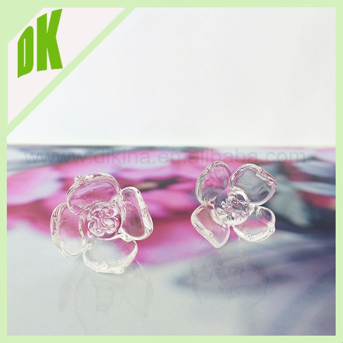 NEW Design Women's glass flower cabochons rings & diameter 15-20mm , many colors can be made >> DIY flower shape dome glass ring