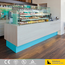 Modern bakery display showcase furniture for coffee shop design