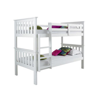 Popular Adult Solid Pine Wood MDF Double Over Double Bunk Bed