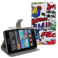 New PU Book Wallet Leather Case For Samsung Galaxy S2 SII i9100 case