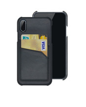 Snap On Pu leather case Cover For iPhone 8 with 2 Card Holder Slots