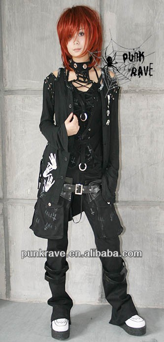 Punkrave Goth Rock pants/trouser with promotion wholesale price $8 K-063