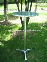 promotion bar table folding leisure table stainless outdoor table
