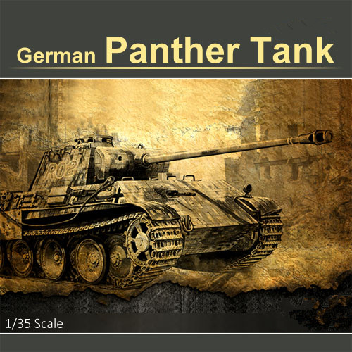 German Panther Tank World War Military Plastic Tank Education Model Toy