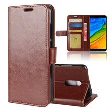Wallet Case for Redmi 5, Hot Selling High Quality PU Leather Flip Wallet Case for Redmi 5