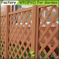 Easily Assembled Decorative garden fence Wood Plastic Composite WPC Trellis