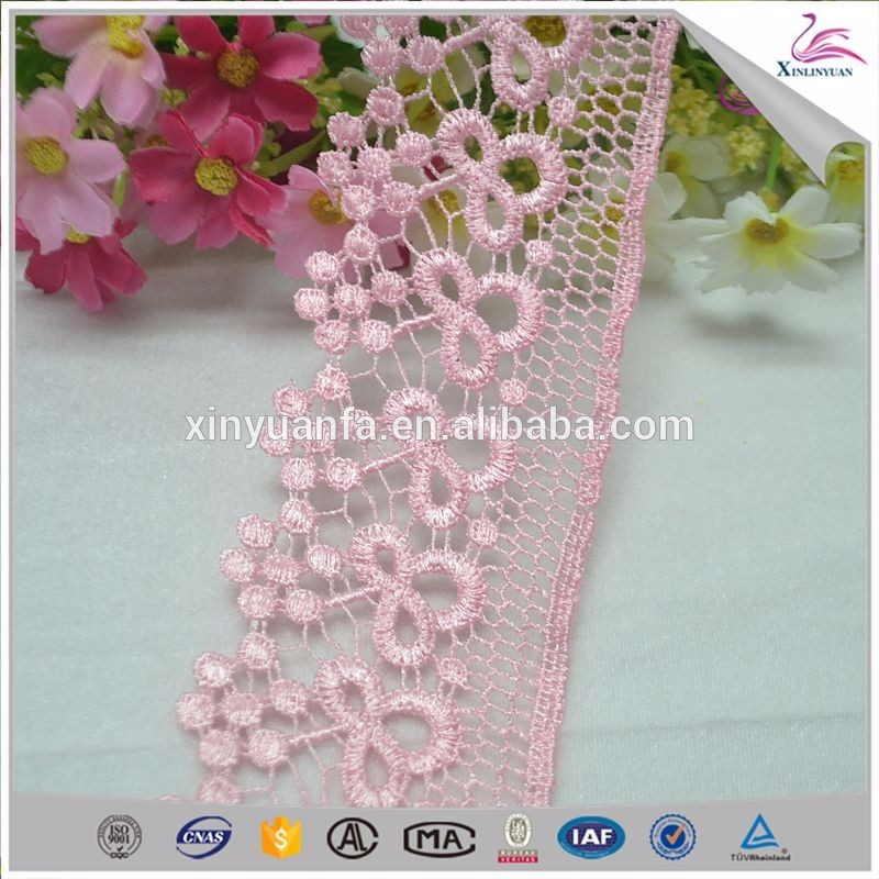 Colorful polyester lace trim for baby cloth