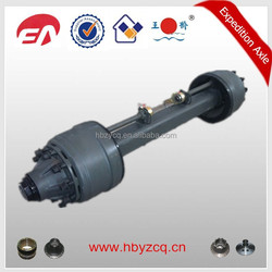 Trailer axles with round beam for truck part