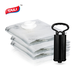 High quality space saver saving travel smart storage vacuum bags with double hand pump