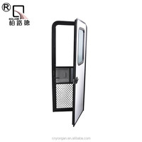 Hinged Type motorhome Access Door with small windows