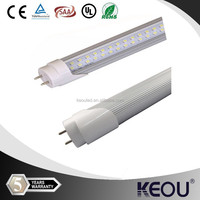 Alumnium+PC T8 led tube 13w two sides power rotatable caps