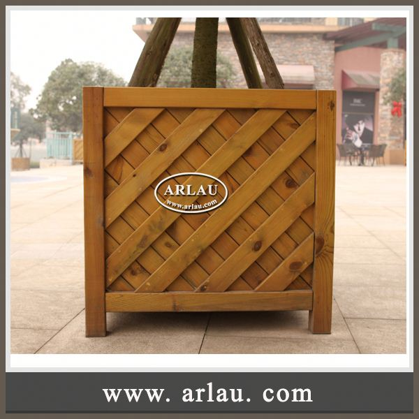 Arlau Round Wooden Barrel,Decorative Indoor Flower Pots,Creative Smart Garden For Plants