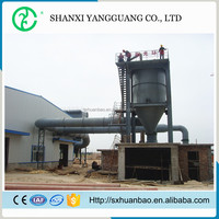 Non-fibrous granular cyclone industrial air filter