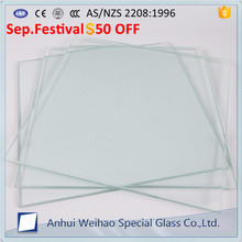 Top quality 5mm 6mm 8mm 10mm 12mm 15mm clear safety tempered glass for hotel canopy