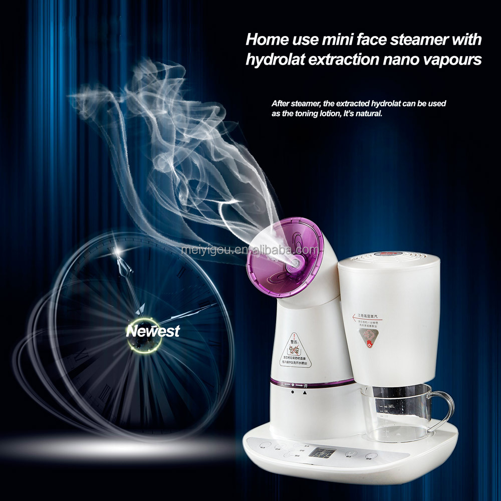 2017 Best Nano Ionic Facial Steamer with water distiller flower distiller