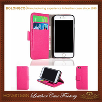 Litchi pattern leather wallet phone case for iphone 6 6s 4.7 inch stand function wholesale