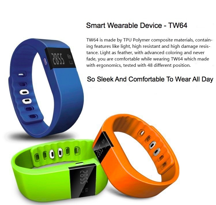 OEM/ODM <strong>bluetooth</strong> tw64 smart bracelet for all mobile phone