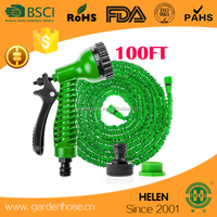 25, 50 and 75ft W/ 7 way hose nozzle The US or EU standard plastic male and female connector watering washing garden hose