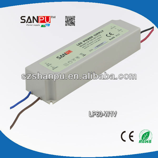 SANPU 2013 hot selling CE ROHS 60W waterproof IP67 led driver circuit 12 volt power supply led street light driver