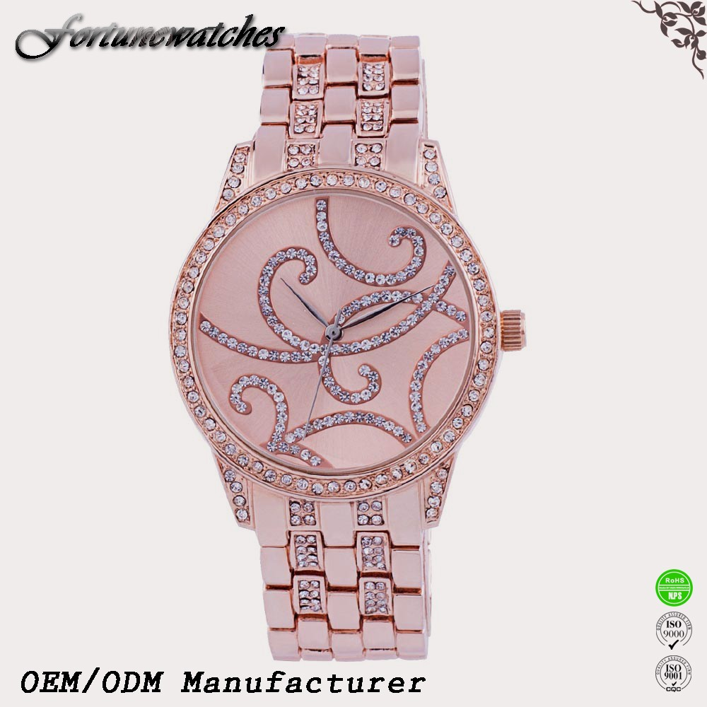 2016 HOT sale girl latest hand watch rose gold watch