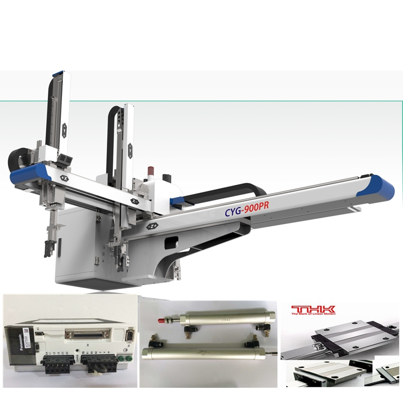 storage box injection molding machine with full automation ac servo robot arm
