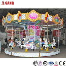 Cheap amusement park fiberglass carousel horse wholesale for sale