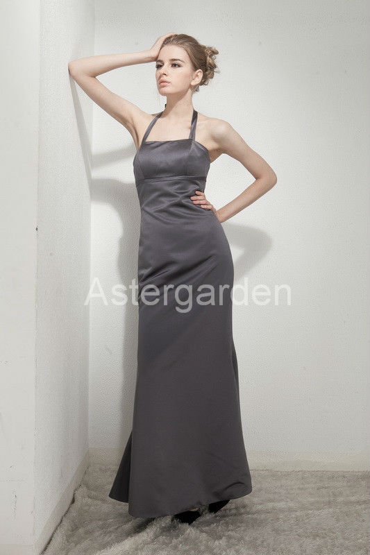 night gowns party sheath Floor-length satin party evening dresses AS253
