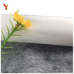 Polyester non-woven interlining fabric sew in handmade fusible interfacing shirt interlining white/black for clothes interlock