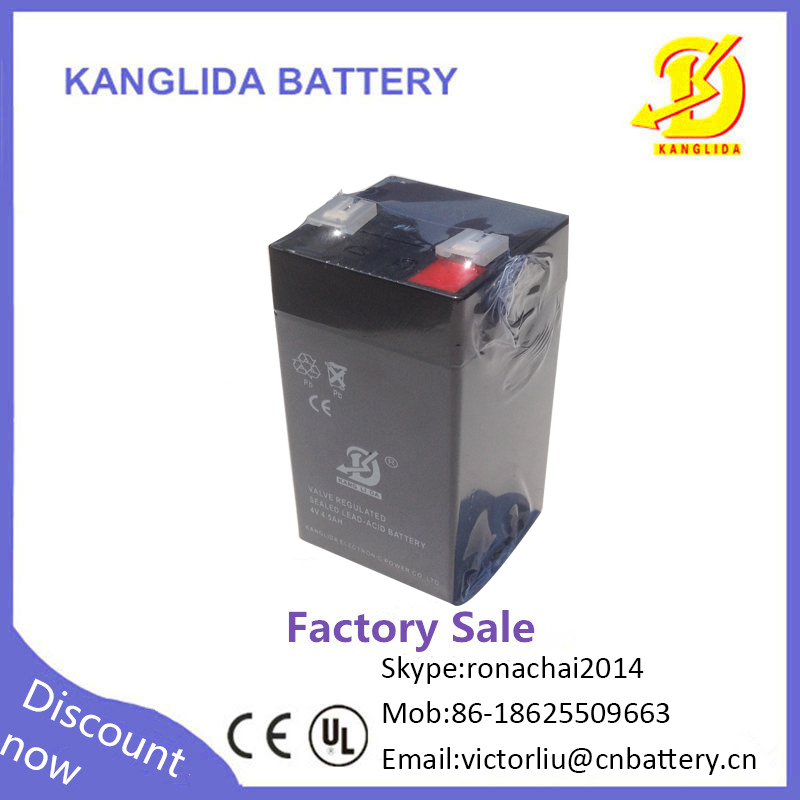 4v 4.5ah deep cycle rechargeable exide storage battery(cell)