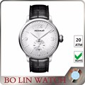 BOLIN watches stainless steel back cover watch mans black dial customized stainless steel back cover watch