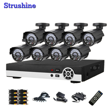 Factory Cheap Home Camera System 8ch Outdoor Waterproof Metal Security Camera System 8 Channel AHD 960H DVR CCTV System Kit