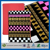 Hot products wholesale competitive price jean leather stand case for ipad 2 3 4