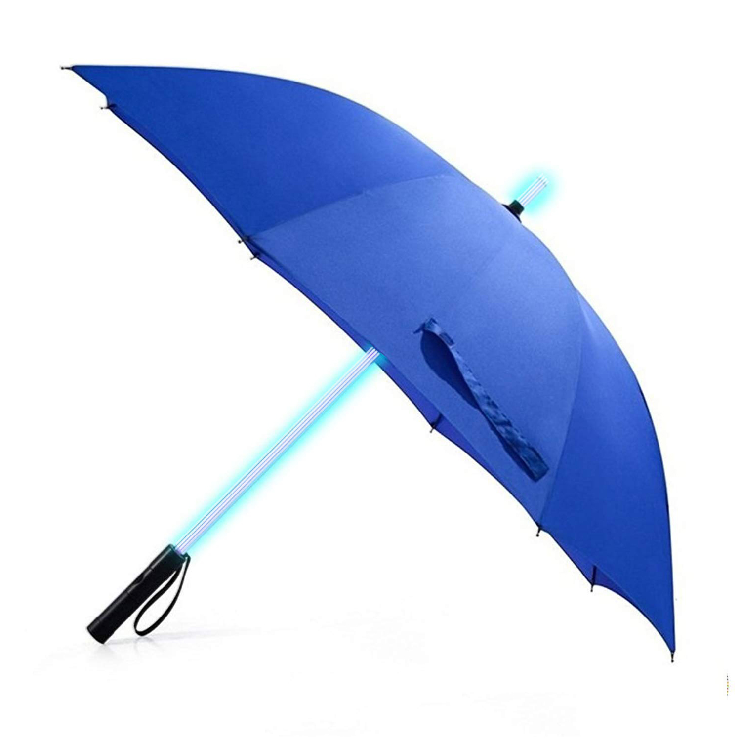 Wholesale Custom 23Inch 8Ribs 7 Color Changing on Shaft LED Straight Umbrella