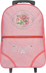 New students girls trolley backpack 300D trolley school bag