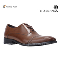 Men genuine leather oxford dress shoes Italy custom design