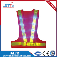 Professional reflective cycling led vest