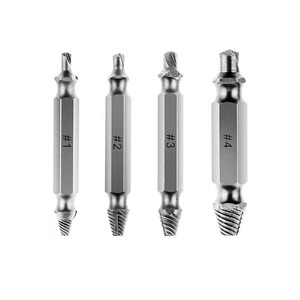 Hot Sale 4Pcs S2 Speed Out Broken Damaged Screw Extractor and Remover for Screw Bolt Stud Remove