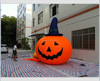 5M Giant Inflatable Vegetable Replica Halloween Pumpkin With Witch Hat W116