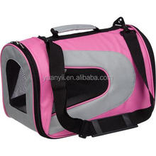 Pink pet carrier soft sided pet carrier travel pet sling carrier