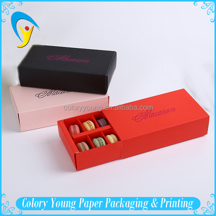 Customized Macaron Box Packing With Drawer Shape