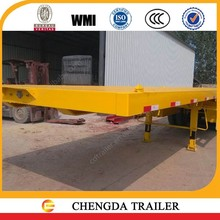 3 axle flatbed trailer frame container trailer