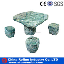 Green onyx marble granite tables and chairs