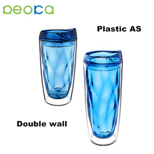 16oz 20oz double Wall coffee Mug series Plastic tumbler with straw