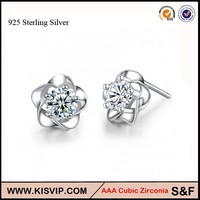 China Top Ten Selling Products , Austria crystal 925 Sterling Silver Earrings
