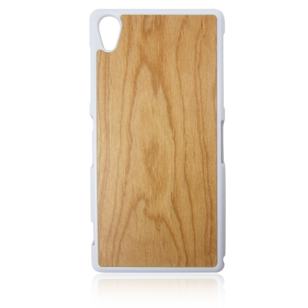 Real wooden phone cover single bottom cherry wood case mobile phone shell for Sony Z2