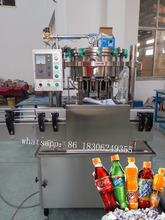 ISO 9001 Factory piston pump small bottle filling and capping machine for soda water