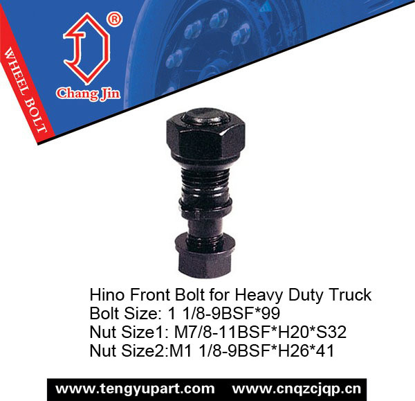 High Tensile 12.9 Truck HINO Bolt for Front Wheel
