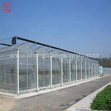 High quality solar flat roof PC sheet used greenhouse equipment for sale